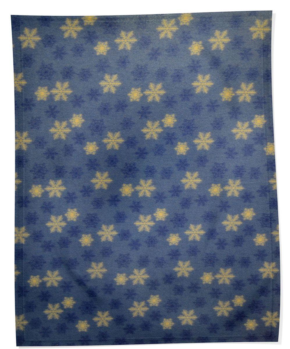 Плед флисовый Снежинки, синий, 150х200смОПЛФ-150*200/ССМягкий и приятный на ощупь плед Снежинки согреет в прохладные вечера и сделает ваш дом праздничным и новогодним. Дизайн жизнерадостный, зимний, будет способствовать хорошему настроению! Наслаждайтесь комфортом и уютом с пледом Снежинки и пусть в вашем доме будет тепло!