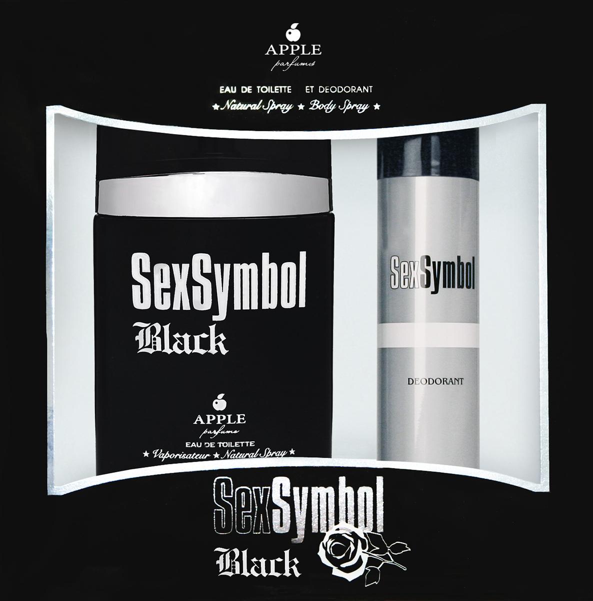 Apple Parfums Подарочный набор Sex Symbol Black мужской: Туалетная вода, 100 мл , дезодорант, 75 мл