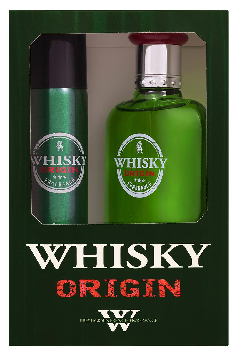 """Evaflor Подарочный набор """"Whisky Origina""""l мужской: Туалетная вода, 100 мл , дезодорант, 7 5мл"""
