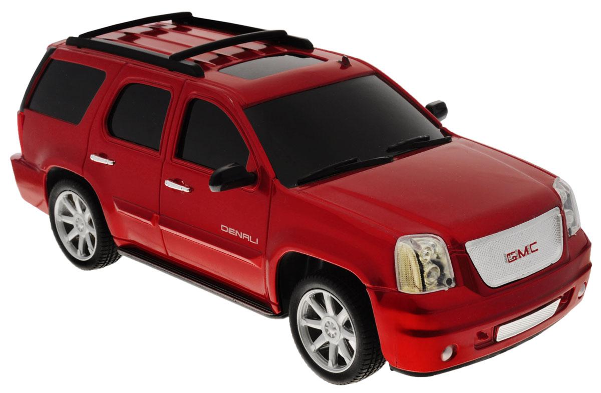 Guokai Машинка инерционная GMC Yukon-Denali цвет красный866-82402_красныйИнерционная машинка Guokai GMC Yukon-Denali - это шикарная масштабная модель настоящего автомобиля c высокой степенью детализации, которая придется по вкусу как взрослому, так и ребенку. Игрушка выполнена из прочного пластика с инерционным механизмом и работает на батарейках. Модель имеет световые и звуковые эффекты. Машинка станет отличным подарком для ребенка, а также может дополнить вашу коллекцию масштабных автомобилей. Для работы игрушки необходимы 3 батарейки типа АА (товар комплектуется демонстрационными).