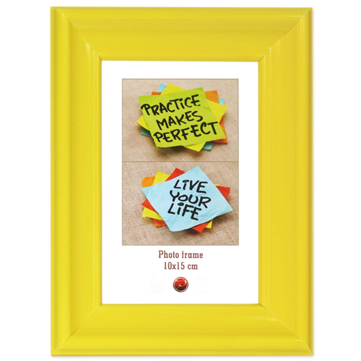 Фоторамка Pioneer Rainbow, цвет: желтый, 10 x 15 см16943 PD06_желтыйФоторамка Pioneer Rainbow выполнена из пластика и стекла, защищающего фотографию. Оборотная сторона рамки оснащена специальной ножкой, благодаря которой ее можно поставить на стол или любое другое место в доме или офисе. Также изделие оснащено специальными отверстиями для подвешивания на стену. Такая фоторамка поможет вам оригинально и стильно дополнить интерьер помещения, а также позволит сохранить память о дорогих вам людях и интересных событиях вашей жизни.