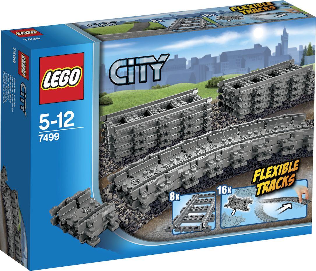 LEGO City Конструктор Гибкие пути 74997499Lego City - жизнь в большом городе. Ты можешь стать, кем захочешь, - полицейским, пожарным, строителем, почтальоном, охранником или машинистом! Все реалистично и правдоподобно. Lego City Гибкие пути - новые рельсы для вашей железной дороги. В набор входят 8 длинных прямых и 16 гибких коротких участков. Рельсы можно соединять между собой в произвольном порядке, придавая дороге любую форму. Приобретите несколько таких наборов и создайте самую длинную железную дорогу Lego! Конструктор - это один из самых увлекательнейших и веселых способов времяпрепровождения. Ребенок сможет часами играть с конструктором, придумывая различные ситуации и истории. В процессе игры с конструкторами Lego дети приобретают и постигают такие необходимые навыки как познание, творчество, воображение. Обычные наблюдения за детьми показывают, что единственное, чему они с удовольствием посвящают время - это игры. Игра - это состояние души, это веселый опыт познания реальности. Играя, дети создают...