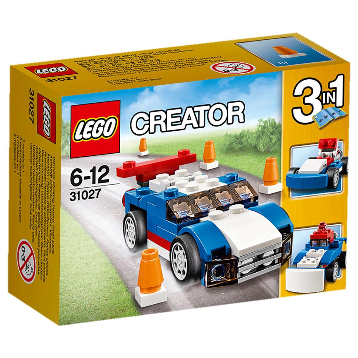 LEGO Creator Конструктор Синий гоночный автомобиль 31027
