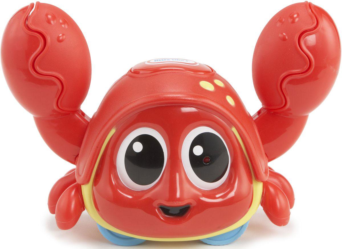 Little Tikes Интерактивная игрушка Шустрый краб638510Развивающая интерактивная игрушка Little Tikes Шустрый краб - чудесная музыкальная игрушка для малышей от 6 месяцев. Она выполнена из безопасного материала в виде краба. Симпатичный яркий крабик оснащен датчиком движения. Краб ползает в одну сторону и клацает клешнями. Достигая препятствия он начинает двигаться в другую сторону. Если в клешню вставить пальчик, краб перестает щелкать клешнями, обеспечивая полную безопасность для детских ручек. При нажатии на большую кнопку на голове краба начинает звучать одна из шести мелодий. Игрушка помогает ребенку успешно осваивать основные навыки: ползать, стоять, ходить. Способствует развитию координации, сенсорики, формированию причинно-следственной связи. Игрушка работает от 3 батареек напряжением 1,5V типа AAA/R03 (входят в комплект).