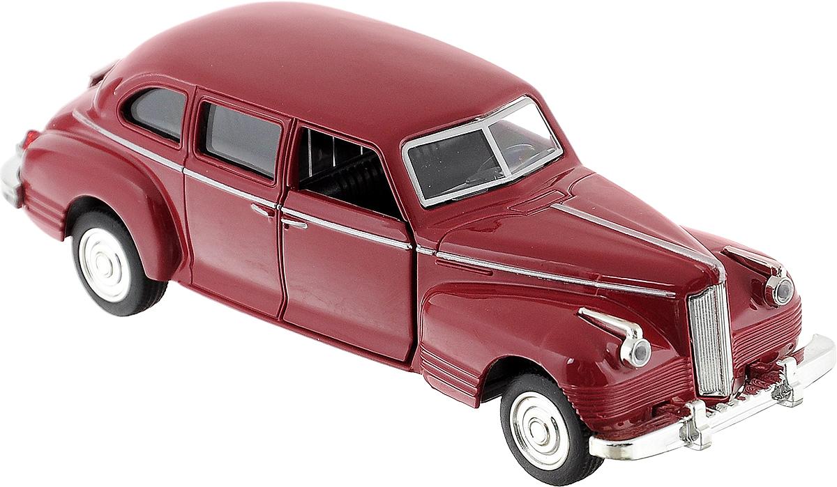 Play Smart Машинка инерционная ЗИС-110 цвет бордовыйР41145Инерционная машинка Play Smart ЗИС-110, выполненная из высококачественного металла и пластика, непременно понравится и ребенку, и взрослому. Модель является точной уменьшенной копией известного автомобиля ЗИС-110. Игрушечная модель оснащена литым металлическим корпусом, вращающимися колесами из резины. Передние двери открываются, салон детализирован. Игрушка оснащена инерционным ходом. Для того, чтобы автомобиль поехал вперед, необходимо его отвести назад, а затем отпустить. Прорезиненные колеса обеспечивают надежное сцепление с любой поверхностью пола. Машинка является отличным подарком для каждого ребенка. Во время игры с такой машинкой у ребенка развивается мелкая моторика рук, фантазия и воображение.