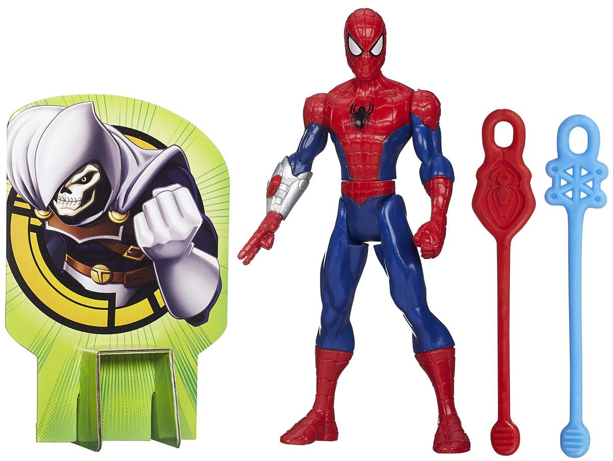 Spider-Man Фигурка Web Slingers Spider-ManB0571EU4_B1252Фигурка Spider-Man Web Slingers: Spider-Man привлечет внимание любого мальчишки. Фигурка выполнена из прочного высококачественного пластика в виде знаменитого супергероя Человека-Паука. Руки, ноги и голова фигурки подвижны, что позволяет придавать ей различные позы. В комплект входят два гибких снаряда с петлями, которые ребенок может запускать по принципу рогатки, зацепив петлю снаряда за специальный выступ на руке фигурке. Феи Disney - сказочные героини, которые живут в гармонии с природой, их жизнь полна захватывающих приключений и интересных открытий. Ваш ребенок часами будет играть с этой фигуркой, придумывая различные истории. Порадуйте своего ребенка таким замечательным подарком!