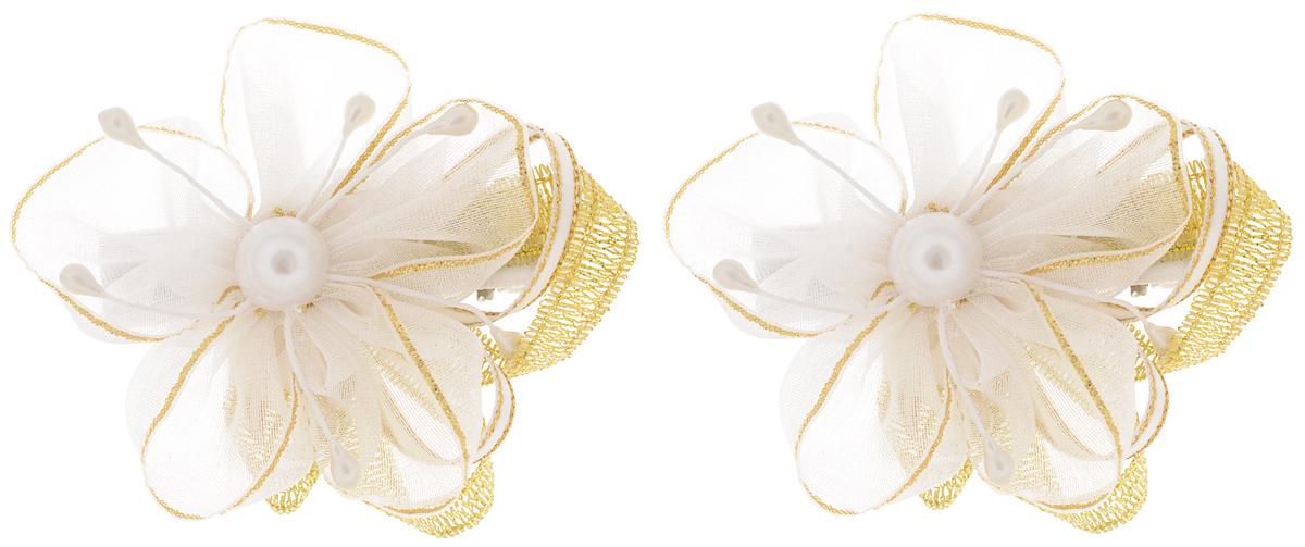 Baby's Joy Заколка для волос цвет белый золотой 2 шт K 5