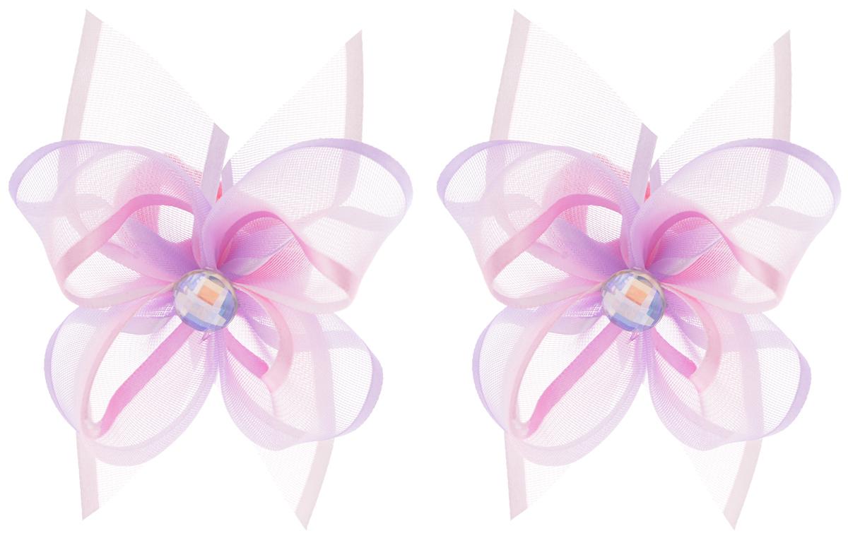 Babys Joy Резинка для волос цвет сиреневый розовый 2 шт MN 203/2MN 203/2_сиренево-розовый/стразаРезинка для волос Babys Joy выполнена в виде цветка из текстиля и органзы и украшена в центральной части стразом. Резинка для волос Babys Joy надежно зафиксирует волосы и подчеркнет красоту прически вашей маленькой модницы. В упаковке: 2 резинки. Рекомендовано для детей старше трех лет.