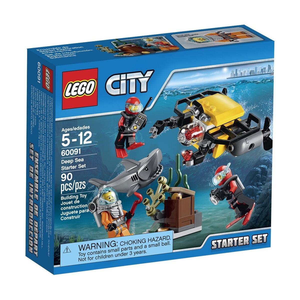 LEGO City Конструктор Исследование морских глубин 6009160091Присоединяйся к исследователям глубин Lego City в поиске потерянных сокровищ вместе с глубоководным набором для начинающих! Ныряльщик заметил загадочный сундук на морском дне и нуждается в твоей помощи, чтобы освободить его от водорослей. Возьми под свой контроль подлодку с дистанционным управлением и используй её мощные роботизированные захваты, чтобы освободить сундук и открыть скрытые в нём тайные сокровища. Но опасайся молниеносной акулы, которая скрывается в тёмной воде! В набор входят 3 минифигурки: глубоководный ныряльщик и 2 аквалангиста. В процессе игры с конструкторами LEGO дети приобретают и постигают такие необходимые навыки как познание, творчество, воображение. Обычные наблюдения за детьми показывают, что единственное, чему они с удовольствием посвящают время, - это игры. Игра - это состояние души, это веселый опыт познания реальности. Играя, дети создают собственные миры, осваивают их, восстанавливают прошедшие и будущие события через понарошку, познавая -...
