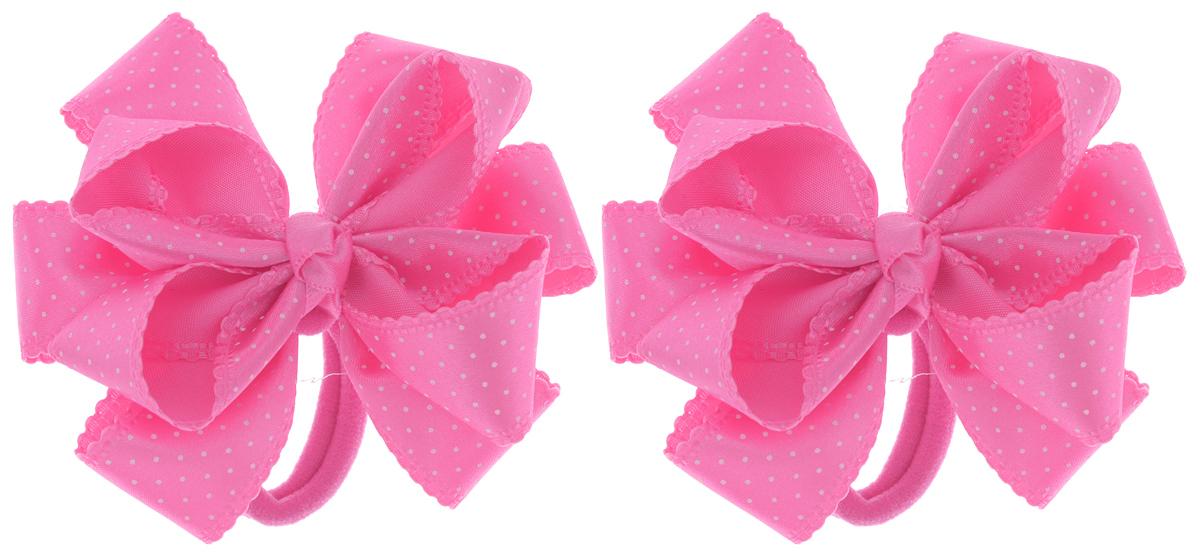 Baby's Joy Резинка для волос цвет розовый белый MN 192