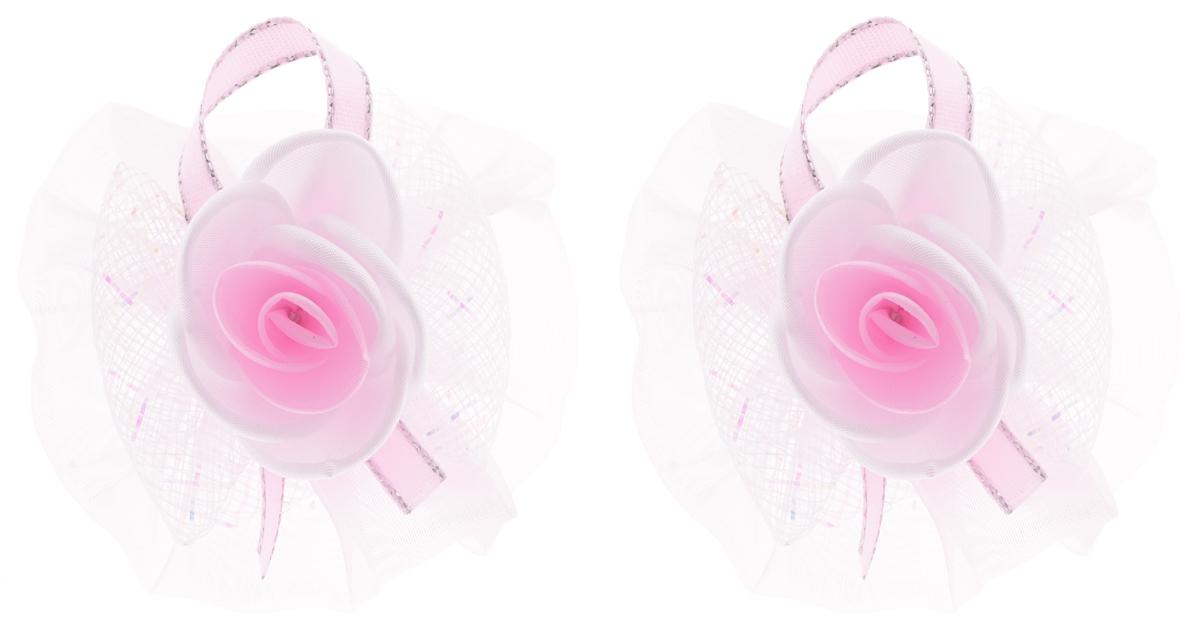 Babys Joy Резинка для волос цвет розовый белый 2 шт AL 970AL 970_розовыйРезинка для волос Babys Joy, изготовленная из органзы в виде цветков, дополнена сеточкой в виде бантика и атласной лентой, а в центре оформлена розочками. Резинка для волос Babys Joy надежно зафиксирует волосы и подчеркнет красоту прически вашей маленькой модницы. В упаковке: 2 резинки. Рекомендовано для детей старше трех лет.