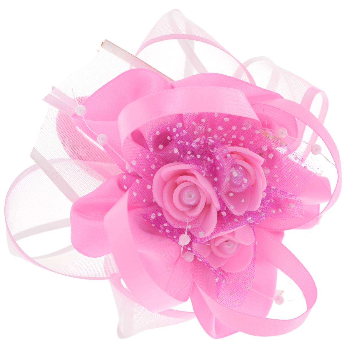 Babys Joy Резинка для волос цвет розовый MN 2MN 2_розовыйРезинка-бант для волос Babys Joy, выполненная из атласа и органзы, оформлена тремя розами и пластиковыми бусинами. Резинка для волос Babys Joy надежно зафиксирует волосы и подчеркнет красоту прически вашей маленькой модницы. Рекомендовано для детей старше трех лет.