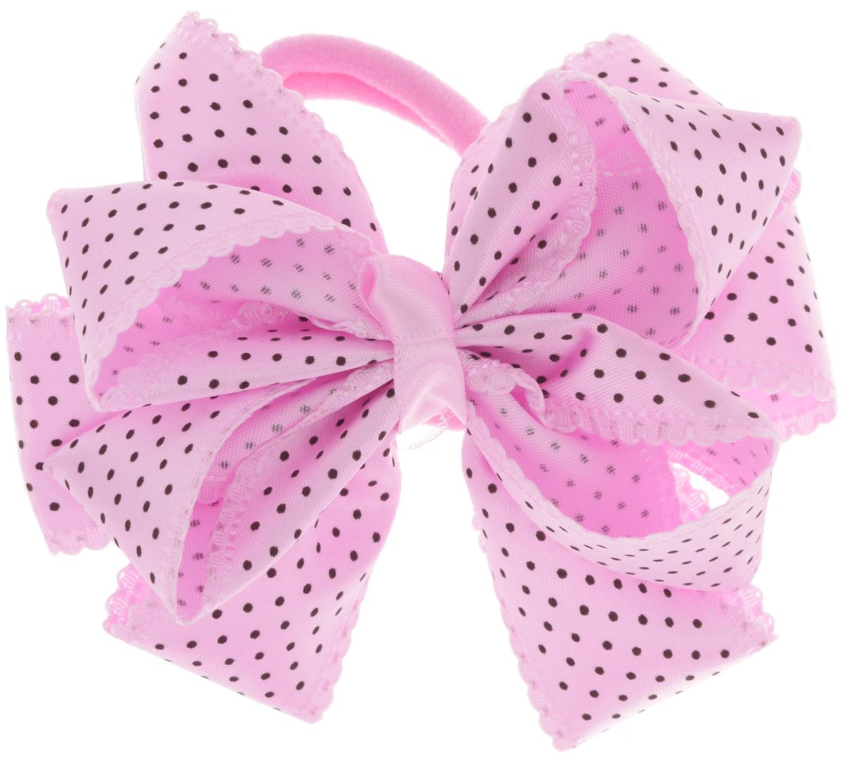 Babys Joy Резинка для волос цвет светло-розовый черный MN 192MN 192_розовый/черный горошекРезинка для волос Babys Joy, изготовленная из текстиля, дополнена милым бантом из атласа в форме цветка и оформлена по верху декоративным принтом в виде мелкого горошка. Резинка для волос Babys Joy надежно зафиксирует волосы и подчеркнет красоту прически вашей маленькой принцессы. Рекомендовано для детей старше трех лет.
