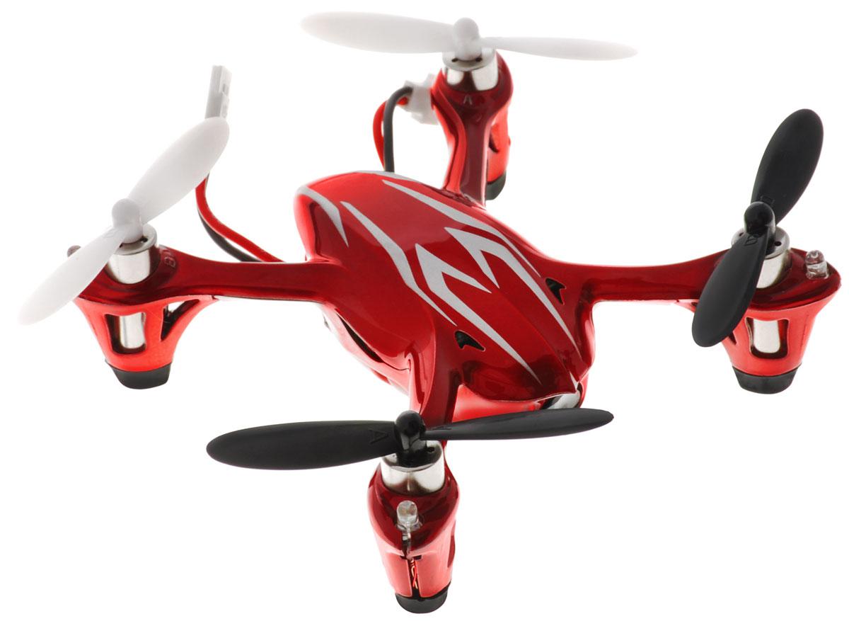 Hubsan Квадрокоптер на радиоуправлении X4 Mini цвет красныйH107C-HDКвадрокоптер на радиоуправлении Hubsan X4 Mini c инфракрасным четырехканальным управлением и встроенным гироскопом подходит для полетов в закрытых помещениях и на улице. Это отличный подарок для тех кто хочет увидеть полет глазами пилота. Современная аппаратура на 2.4 ГГц обеспечивает надежную защиту от помех. Модель оснащена прочным футуристическим кузовом и светодиодами для ночных полетов. Благодаря настраиваемой чувствительности управления модель подходит и для новичков и для профессионалов. В модели применен гироскоп, который придает модели устойчивость при полете. Крепкий и прочный корпус защитит мини-дрон от серьезных ударов и повреждений. Умеет делать кульбиты во всех направлениях полета. На кончиках посадочных стоек установлены резиновые подошвы для более удобной и комфортной посадки квадрокоптера на твердый пол. Квадрокоптер оснащен камерой с функцией записи. Игрушка развивает многочисленные способности ребенка - мелкую моторику,...