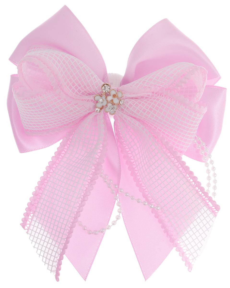 Babys Joy Резинка для волос цвет розовый MN 217MN 217_розовый/стразыРезинка для волос Babys Joy изготовлена из текстиля и дополнена милым бантиком, оформленного в центральной части декоративным металлическим элементом в виде цветов со стразами, и нитью, состоящей из мелких пластиковых бусин. Резинка для волос Babys Joy надежно зафиксирует волосы и подчеркнет красоту прически вашей маленькой модницы. Рекомендовано для детей старше трех лет.