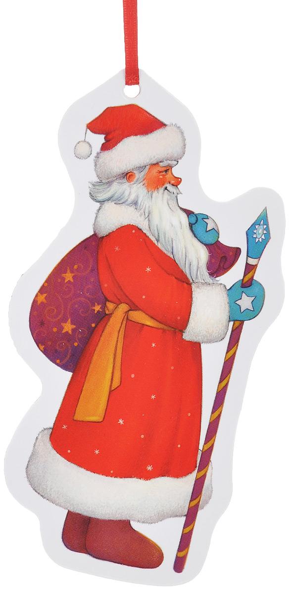Игрушка-подвеска новогодняя Darinchi Дед Мороз, 14 смTOYNY 6Новогодняя игрушка-подвеска Darinchi Дед Мороз выполнена из плотного картона и оформлена изображением Деда Мороза. Изделие не имеет острых углов. Благодаря текстильной ленточке игрушку можно повесить на елку или в любое другое место. Такая игрушка станет прекрасным украшением интерьера вашего дома в новогодние праздники.