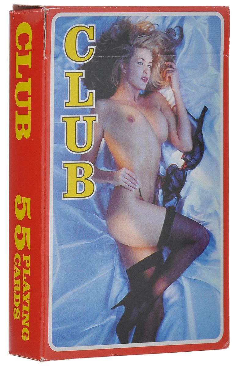 Коллекционные игральные карты Club, 55 шт. 14251425_красныеКолода игральных карт Club оформлена пикантными женскими фотографиями. На картах изображены красивые обнаженные женщины. Чувственность и сексуальность их загорелых тел вызовет массу эмоций у истинных ценителей женской красоты. Размер карты: 5,9 см х 8,9 см. Состав: 55 карт.