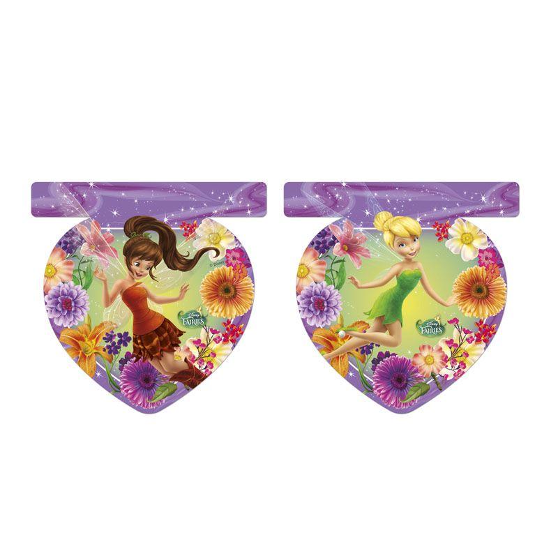 Procos Гирлянда Волшебные феи85634С помощью оригинальной гирлянды от компании Волшебные феи, вы с легкостью украсите любое помещение и сделаете праздник незабываемым. Гирлянда также подойдет для зонирования пространства в большой комнате. Девять флажков, декорированных узором из пышных цветов и милыми изображениями волшебных фей, не оставят равнодушной ни одну маленькую девочку. Во время производства использованы прочные материалы, полностью безопасные для здоровья детей. Гирлянда станет прекрасным выбором для проведения дня рождения или сказочного детского утренника.
