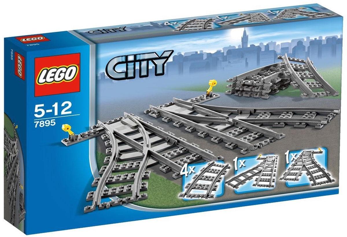 LEGO City Конструктор Железнодорожные стрелки 78957895Эти железнодорожные стрелки и рельсы помогут вашему ребенку изменить и увеличить траекторию уже имеющейся у него железной дороги из серии City. Железные дороги позволяют ребенку не только получать удовольствие от игры, но и развивать пространственное воображение, мелкую моторику и координацию движений. Конструктор включает 4 поворотные секции и 2 железнодорожные стрелки для переключения движения направо и налево. В процессе игры с конструкторами Lego дети приобретают и постигают такие необходимые навыки как познание, творчество, воображение. Обычные наблюдения за детьми показывают, что единственное, чему они с удовольствием посвящают время - это игры. Игра - это состояние души, это веселый опыт познания реальности. Играя, дети создают собственные миры, осваивают их, восстанавливают прошедшие и будущие события через понарошку, а, познавая, приобретают знания и умения. Фантазия ребенка безгранична, беря свое начало в детстве, она позволяет ребенку учиться представлять в уме,...