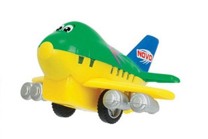 Dickie Toys Веселый самолет инерционный цвет зеленый желтый ( 3345475_зеленый, желтый )