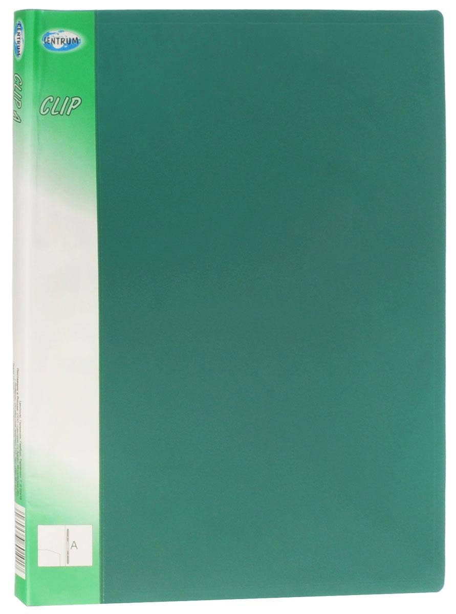 Centrum Папка с пружинным механизмом Clip цвет зеленый 80101_зеленый