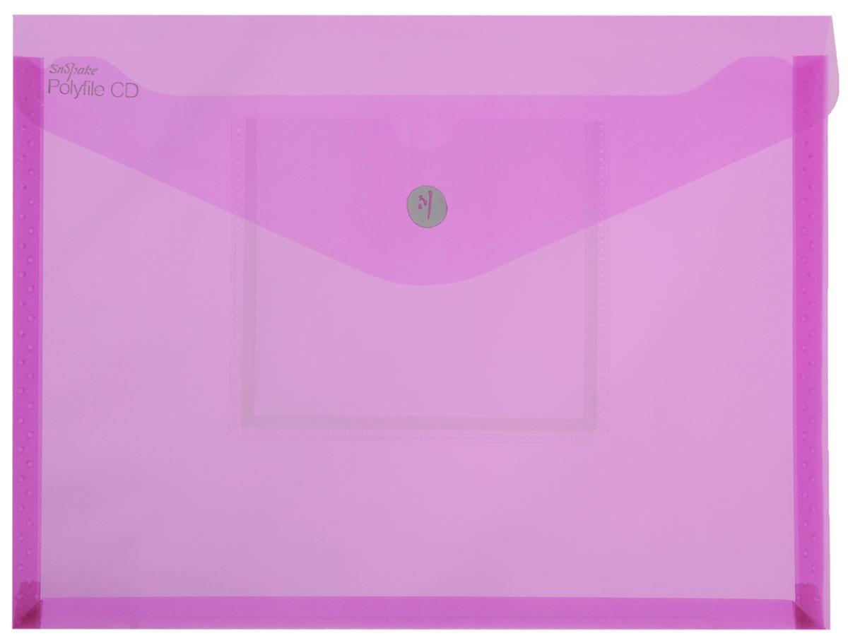 Snopake Папка-конверт Electra на липучке с карманом для CD цвет розовыйK11800_розовыйПапка-конверт на липучке Snopake Electra - это удобный и функциональный офисный инструмент, предназначенный для хранения и транспортировки рабочих бумаг и документов формата А4. Папка позволит хранить печатную и электронную копии информации в одном месте. Вмещает до 300 листов стандартной плотности. Папка изготовлена из износостойкого полупрозрачного полипропилена, закрывается клапаном на липучке. Папка имеет специальную вырубку, облегчающую изъятие документов. На лицевой стороне под клапаном расположен прозрачный кармашек для CD диска в бумажном конверте или пластиковом кейсе. Папка-конверт - это незаменимый атрибут для студента, школьника, офисного работника. Такая папка надежно сохранит ваши документы и сбережет их от повреждений, пыли и влаги. Папка сочетает в себе неизменно высокое качество Snopake и яркие цвета серии Electra.