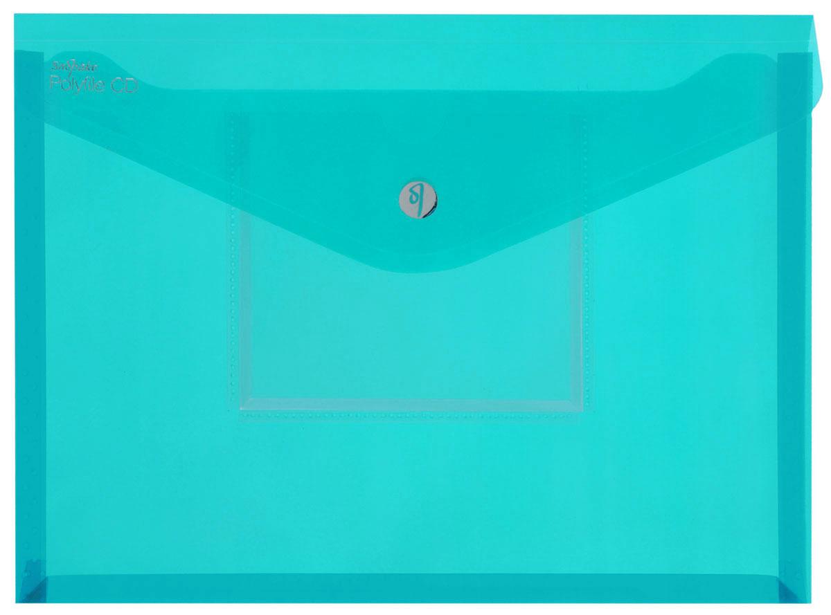 Snopake Папка-конверт Electra на липучке с карманом для CD цвет зеленыйK11800_зеленыйПапка-конверт на липучке Snopake Electra - это удобный и функциональный офисный инструмент, предназначенный для хранения и транспортировки рабочих бумаг и документов формата А4. Папка позволит хранить печатную и электронную копии информации в одном месте. Вмещает до 300 листов стандартной плотности. Папка изготовлена из износостойкого полупрозрачного полипропилена, закрывается клапаном на липучке. Папка имеет специальную вырубку, облегчающую изъятие документов. На лицевой стороне под клапаном расположен прозрачный кармашек для CD диска в бумажном конверте или пластиковом кейсе. Папка-конверт - это незаменимый атрибут для студента, школьника, офисного работника. Такая папка надежно сохранит ваши документы и сбережет их от повреждений, пыли и влаги. Папка сочетает в себе неизменно высокое качество Snopake и яркие цвета серии Electra.