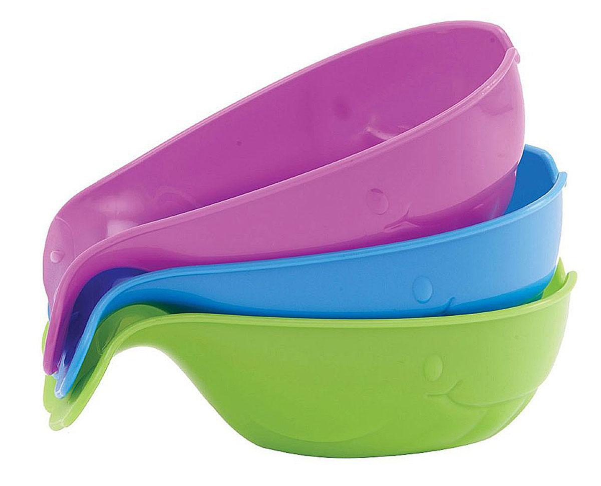 Munchkin Игрушки для ванной Ковшик 3 шт11588_фиолетовый, голубой, салатовыйНабор ковшиков для игры в ванной Munchkin не даст заскучать вашему ребенку. Ковшики с дырочками выполнены в виде оригинальных китов. Игрушка развлекает малыша во время купания и в то же время знакомит его с окружающим миром - ребенок с удовольствием будет зачерпывать и просеивать воду, наблюдая, как только что полный ковшик снова становится пуст. Ковшик имеет удобную форму с удобной изогнутой ручкой - специально для детских ручек.