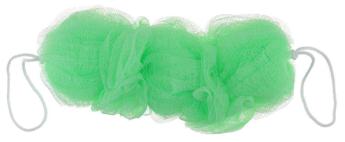 Мочалка Eva Тройная, с ручками, цвет: светло-зеленый, 24 см х 10 смМС40_светло-зеленыйМочалка Eva Тройная станет незаменимым аксессуаром ванной комнаты. Мочалка изготовлена из нейлона, она тонизирует, массирует и очищает кожу. Отлично пенится и быстро сохнет. Размер мочалки: 24 см х 10 см. Длина ручки: 13 см.