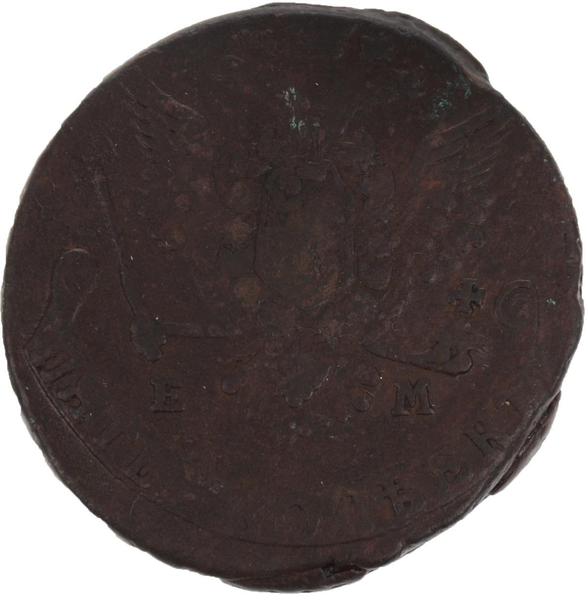 Монета номиналом 5 копеек. Медь. Российская империя, 1778 год