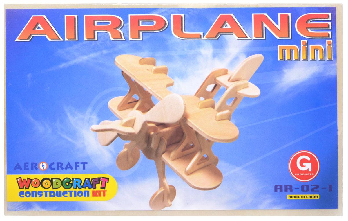 Liro Сборная модель Мини-аэропланAR-02-1Сборная модель Liro Мини-аэроплан позволит вашему ребенку собрать объемную деревянную конструкцию в виде небольшого аэроплана. Необходимо выдавить из деревянных пластин элементы и скрепить между собой посредством пазов. Если вы не планируете разбирать сборную модель, то пазы лучше промазывать клеем ПВА. Собранную модель можно покрасить, покрыть лаком, использовать прибор для выжигания по дереву. Модель для сборки развивает мелкую моторику, интеллектуальные способности, воображение и конструктивное мышление, тренирует терпение и усидчивость. Схема сборки - на обратной стороне картинки.