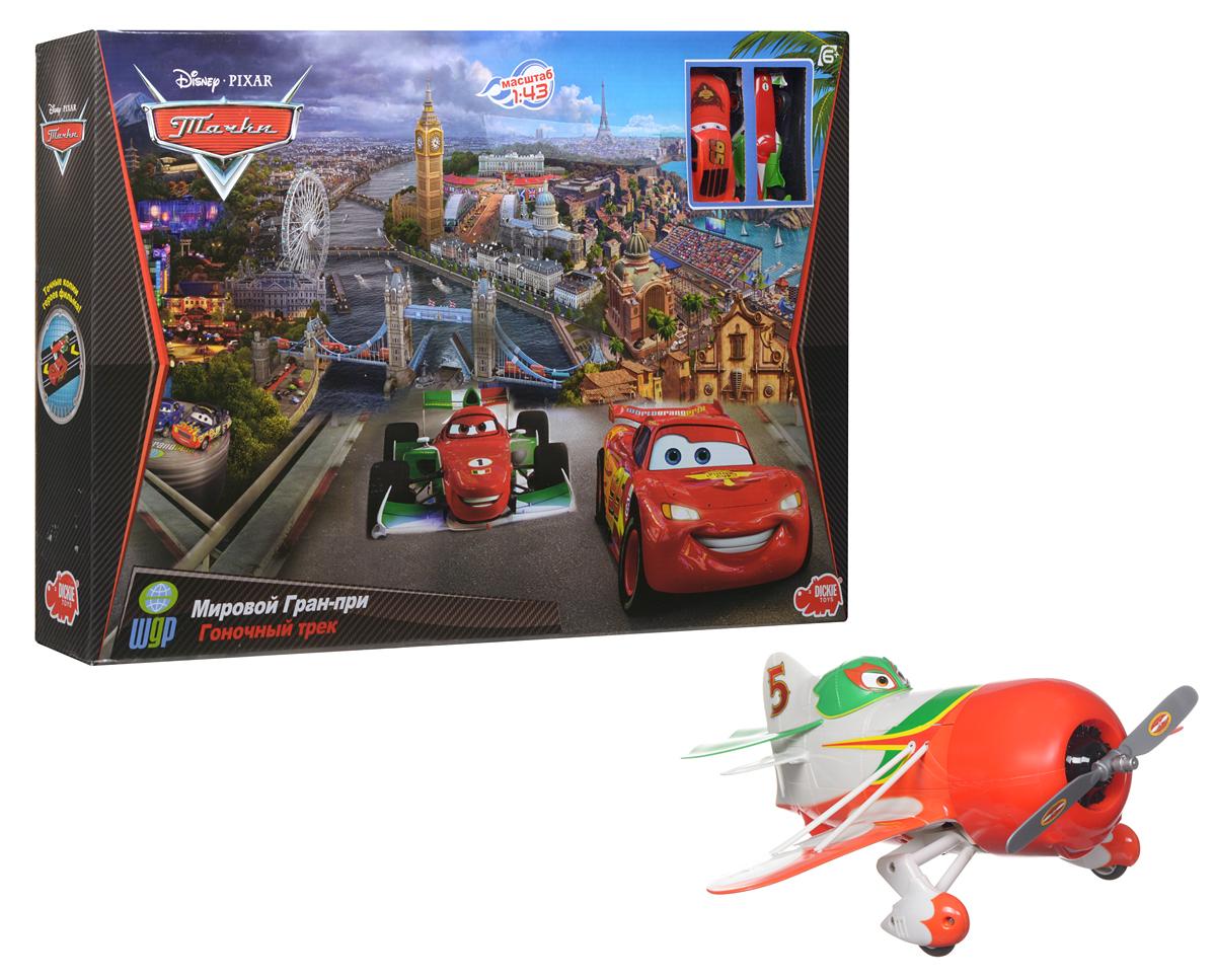 Dickie Toys Игрушечный трек Мировой Гран-при + Подарок Радиоуправляемый самолет Чупакабра