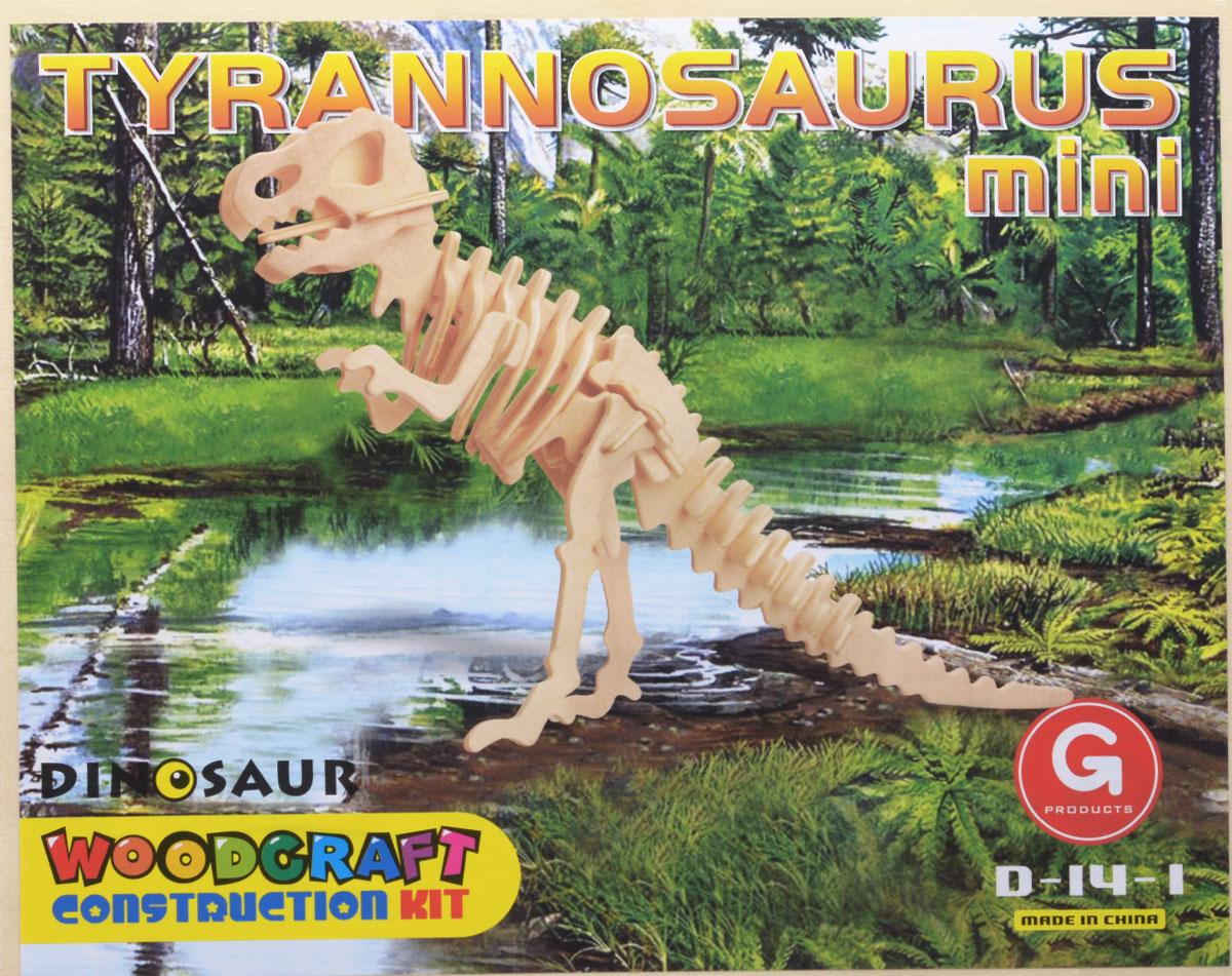 Liro Сборная модель Мини-тираннозаврD-14-1Сборная модель Liro Мини-тираннозавр позволит вашему ребенку собрать объемную деревянную конструкцию в виде небольшого тираннозавра. Необходимо выдавить из деревянных пластин элементы и скрепить между собой посредством пазов. Если вы не планируете разбирать сборную модель, то пазы лучше промазывать клеем ПВА. Собранную модель можно покрасить, покрыть лаком, использовать прибор для выжигания по дереву. Модель для сборки развивает мелкую моторику, интеллектуальные способности, воображение и конструктивное мышление, тренирует терпение и усидчивость. Схема сборки - на обратной стороне картинки.