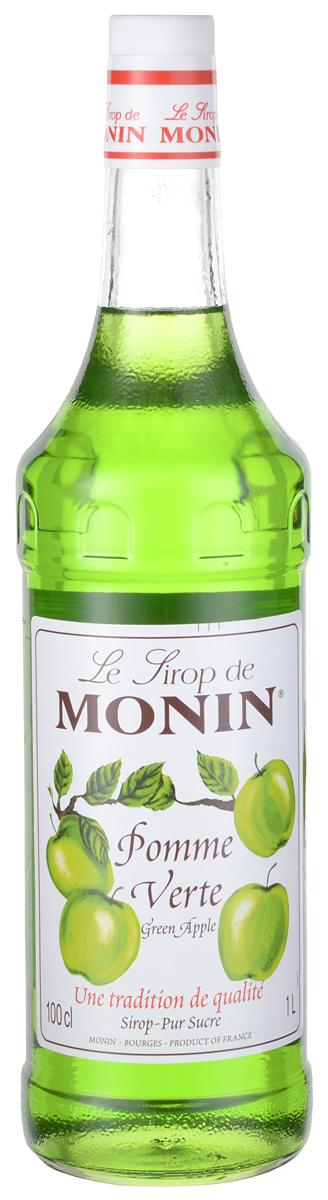 Monin Зеленое яблоко сироп, 1 л