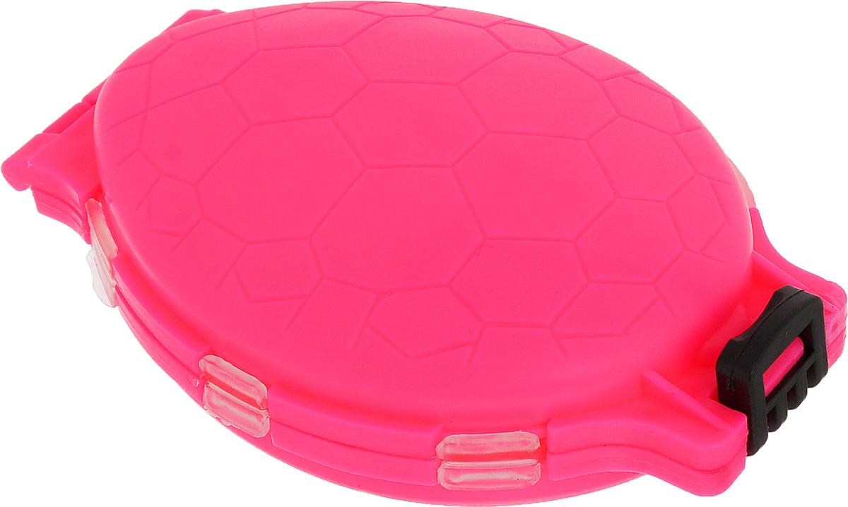 Органайзер для мелочей, двухсторонний, цвет: розовый, 11 см х 7,5 см х 2,5 см679530_розовыйУдобная пластиковая коробка Три кита Черепашка прекрасно подойдет для хранения и транспортировки различных мелочей. Коробка имеет 12 фиксированных секций, закрывающихся на крышки. Удобный и надежный замок-защелка обеспечивает надежное закрывание коробки. Такая коробка поможет держать вещи в порядке. Средний размер секции: 3 см х 3 см.