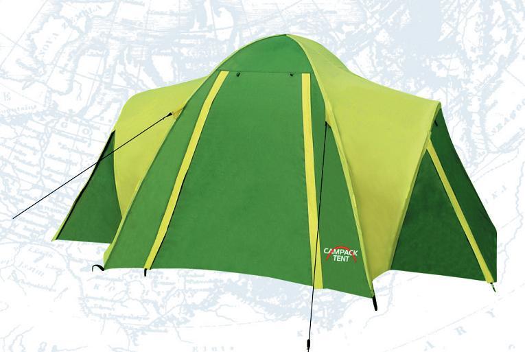 Палатка Campack Tent Hill Explorer 2, цвет: серо-зеленый