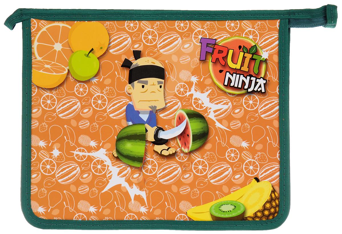 Action! Папка для тетрадей Fruit NinjaFN-FZA5_зеленыйПапка Action! Fruit Ninja предназначена для хранения тетрадей, рисунков и прочих бумаг с максимальным форматом А5. Папка выполнена из прочного материала и содержит одно отделение. Закрывается она на застежку-молнию. Лицевая сторона папки оформлена ярким рисунком. С папкой Action! Fruit Ninja тетради вашего ребенка всегда будут выглядеть опрятно.