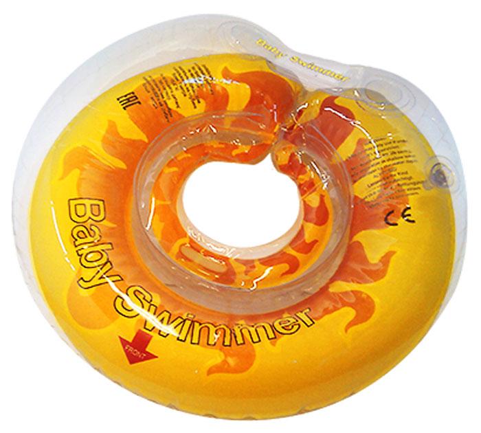Baby Swimmer Круг на шею Солнышко 6-36 кг ( BS12Y_солнышко )