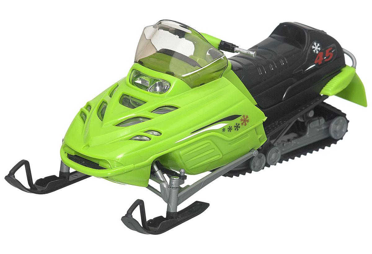 Dickie Toys Снегоход цвет салатовый3315424_салатовый, черныйЗамечательный снегоход Dickie понравится всем любителям необычного транспорта. Выполнен он из прочных и безопасных материалов. Капот снегохода открывается, мощные лыжи имеют поворотный механизм. С ним можно играть как на скользкой, так и на обычной поверхности. Игрушка выглядит очень реалистично и представляет собой настоящий снегоход в миниатюре. Имеется прозрачное ветровое стекло и украшения на бортах. Ваш ребенок будет часами играть с этой игрушкой, придумывая различные истории.