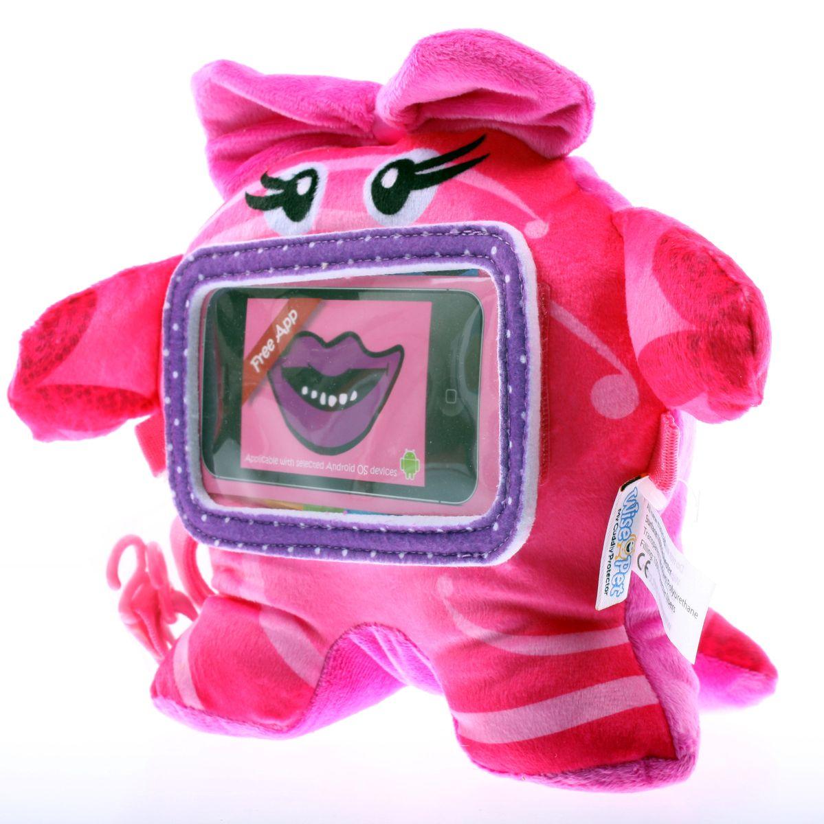 Wise Pet Мягкая игрушка Pinky с прозрачным карманом для смартфона900003Вы когда-нибудь вступали в контакт с инопланетянами? Нет? Тогда у Вас есть уникальная возможность это сделать! И знаете, с ними есть о чем поговорить, а главное, это очень весело, особенно для детей, которые с огромным удовольствием будут играть и общаться с этим симпатичным инопланетянином! Чтобы перевести его речь, Вам потребуется ваш iPhone и бесплатное приложение Wise Pet. Вставьте гаджет в прозрачный кармашек игрушке, запустите приложение и веселитесь вместе с детьми! Благодаря этому приложению, инопланетянин будет повторять все, что Вы или Ваш ребенок скажете ему, при этом шевеля мультяшным ртом, либо расскажет сказку, которую Вы можете записать самостоятельно. В приложении есть множество различных мордашек, которые можно менять. Когда инопланетянин повторяет сказанные фразы, он шевелит ртом. Наговорившись, этот инопланетянин с удовольствием покажет Вашему ребенку мультики или сыграет с ним в игры, которые припас для него. Эту игрушку можно также прикрепить к спинке...