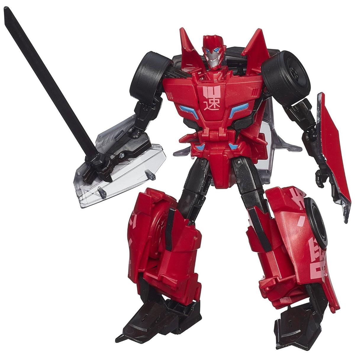 Transformers Robots In Disguise Sideswipe 13 смB0070EU4_B1733Фигурка Transformers Robots In Disguise Sideswipe обязательно понравится любому маленькому поклоннику знаменитых Трансформеров! Фигурка выполнена из прочного пластика в виде трансформера-автобота Сайдсвайпа. Руки и ноги робота подвижны. В 10 простых шагов малыш сможет трансформировать фигурку робота в гоночный автомобиль. Фигурка отличается высокой степенью детализации. Небольшие размеры фигурки позволят брать ее с собой на прогулку или в гости. Ребенок с удовольствием будет играть с фигуркой, придумывая разные истории. Порадуйте его таким замечательным подарком!