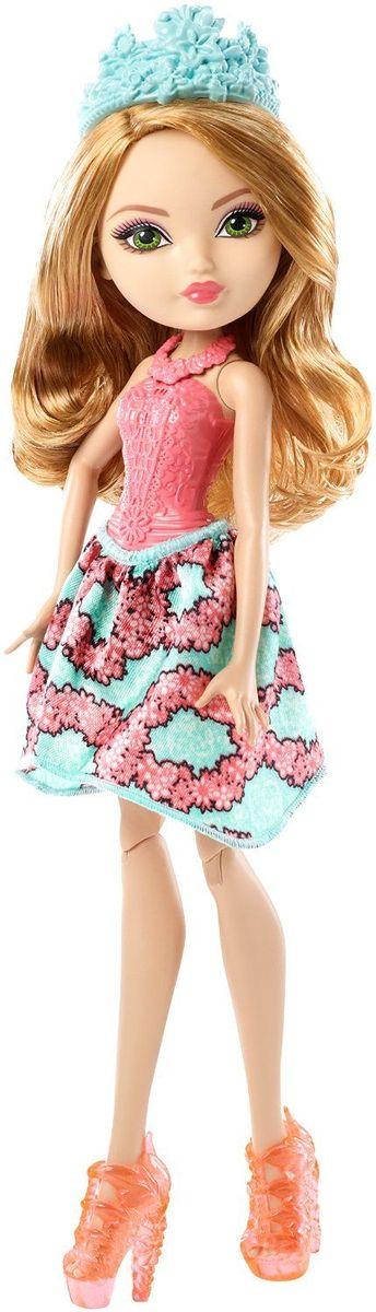 Ever After High Кукла Эшлин ЭллаDLB34_DLB37Очаровательная куколка Ever After High Эшлин Элла обязательно привлечет внимание вашей маленькой любительницы сказок и волшебства. Зеленоглазая красавица сказочная принцесса Эшлин Элла - дочка знаменитой Золушки. На куколке надето красивое зеленовато-розовое платье с обтягивающим лифом розового цвета. Образ дополняют стильные розовые ботильоны, на голове - диадема. Длинные золотистые волосы мягкие и послушные, их приятно расчесывать и создавать различные прически. Не упустите возможность переписать историю вместе с учениками школы Ever After - детьми персонажей известных сказок, которым предстоит решить, следовать ли судьбе своих родителей и прожить положенный сюжет, или изменить то, что им предначертано и самим выбирать свою судьбу.