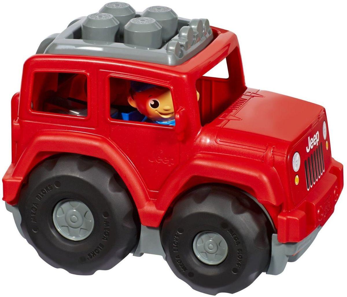 Mega Bloks Конструктор JeepCND61Конструктор Mega Bloks Jeep развеселит любого малыша! Выполнен конструктор в виде красного внедорожника, за рулем которого сидит водитель в синей кепке. Крыша джипа легко открывается, позволяя поместить внутрь 6 блоков из набора. Их также можно прикрепить сверху, чтобы придать машинке неповторимый облик! Пусть ваш ребенок сам создаст джип, с которым будет играть часами. Внедорожник оснащен крупными колесами, имеющими свободный ход. Элементы набора крупные, чем удобны для игры маленькими детскими ручками. Порадуйте своего ребенка такой необыкновенной игрушкой!