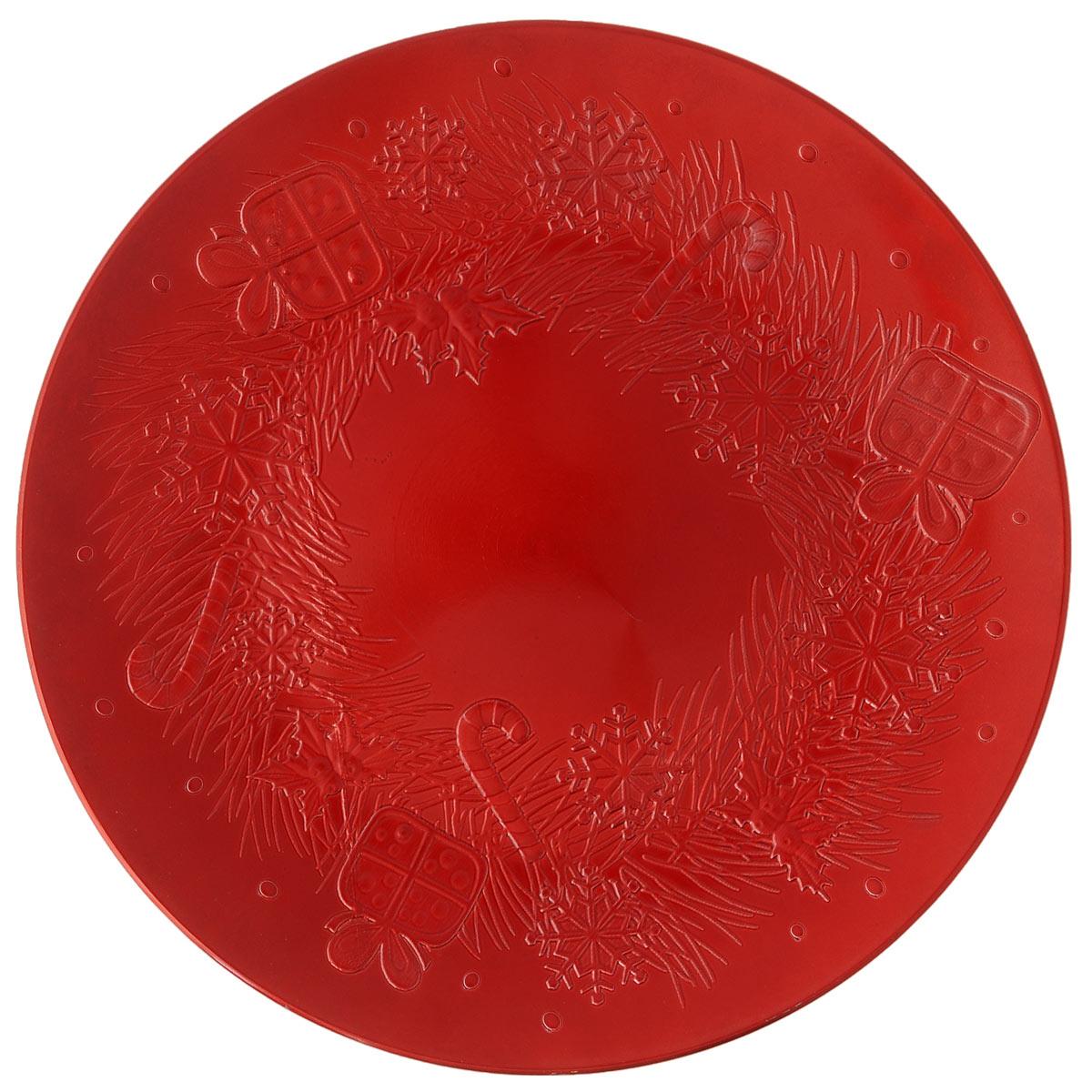 Блюдо Lillo Новогоднее, цвет: красный, диаметр 33 см13079 CБлюдо Lillo Новогоднее, выполненное из высококачественного пластика, оформлено объемными изображениями в виде подарков и снежинок. Блюдо Lillo Новогоднее доставит истинное удовольствие ценителям прекрасного. Яркий дизайн, несомненно придется вам по вкусу. Диаметр: 33 см. Высота стенки: 2 см.