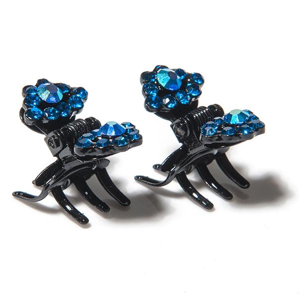 Зажим для волос Selena 'Street Fashion', цвет: черный, синий, 2 шт. 70061883