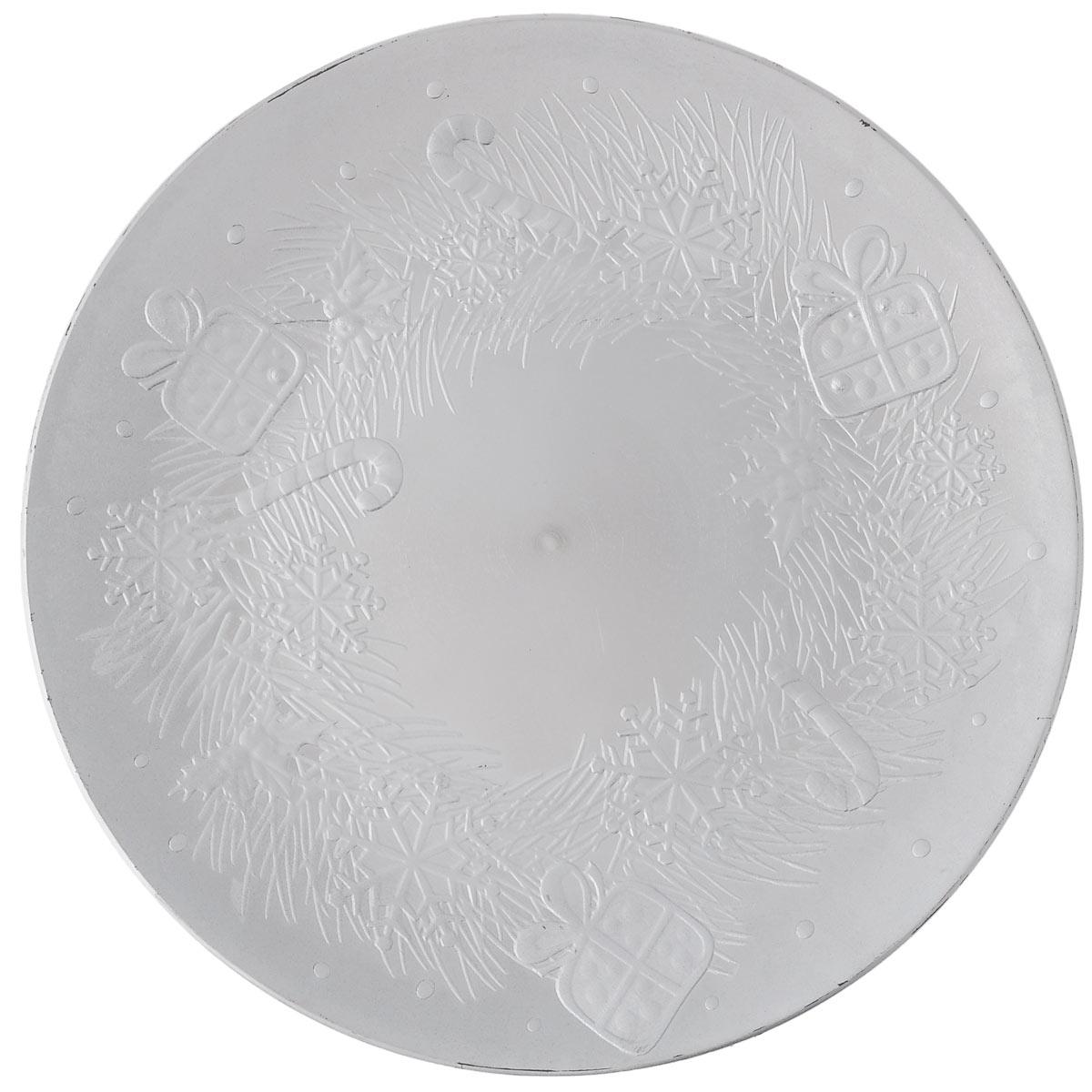 Блюдо Lillo Новогоднее, цвет: серебристый, диаметр 33 см13079 BБлюдо Lillo Новогоднее, выполненное из высококачественного пластика, оформлено объемными изображениями в виде подарков и снежинок. Блюдо Lillo Новогоднее доставит истинное удовольствие ценителям прекрасного. Яркий дизайн, несомненно придется вам по вкусу. Диаметр: 33 см. Высота стенки: 2 см.
