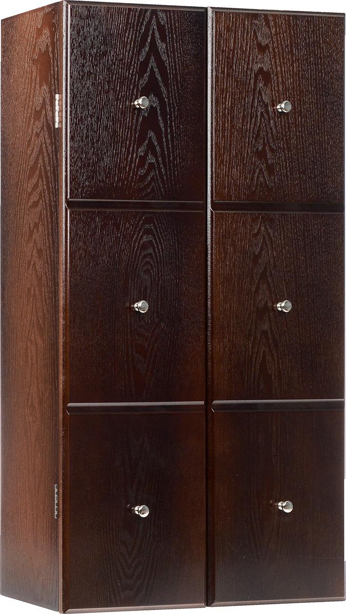 Шкатулка для ювелирных украшений настенная, цвет: коричневый.FH-JC0420Настенная шкатулка для ювелирных украшений поможет стильно и аккуратно хранить ваши украшения. Шкатулка выполнена из натурального дерева. Изделие размещается на стене с помощью шурупов (не входят в комплект). Шкатулка имеет одно основное отделение с зеркалом. Внутри расположено 7 металлических крючков и 3 выдвижных отделения для хранения браслетов, цепочек, колье. Дверца закрывается на магниты. Стильная настенная шкатулка придется по вкусу всем любительницам изысканных вещей, она прекрасно подойдет для туалетного столика и будет радовать свою обладательницу.