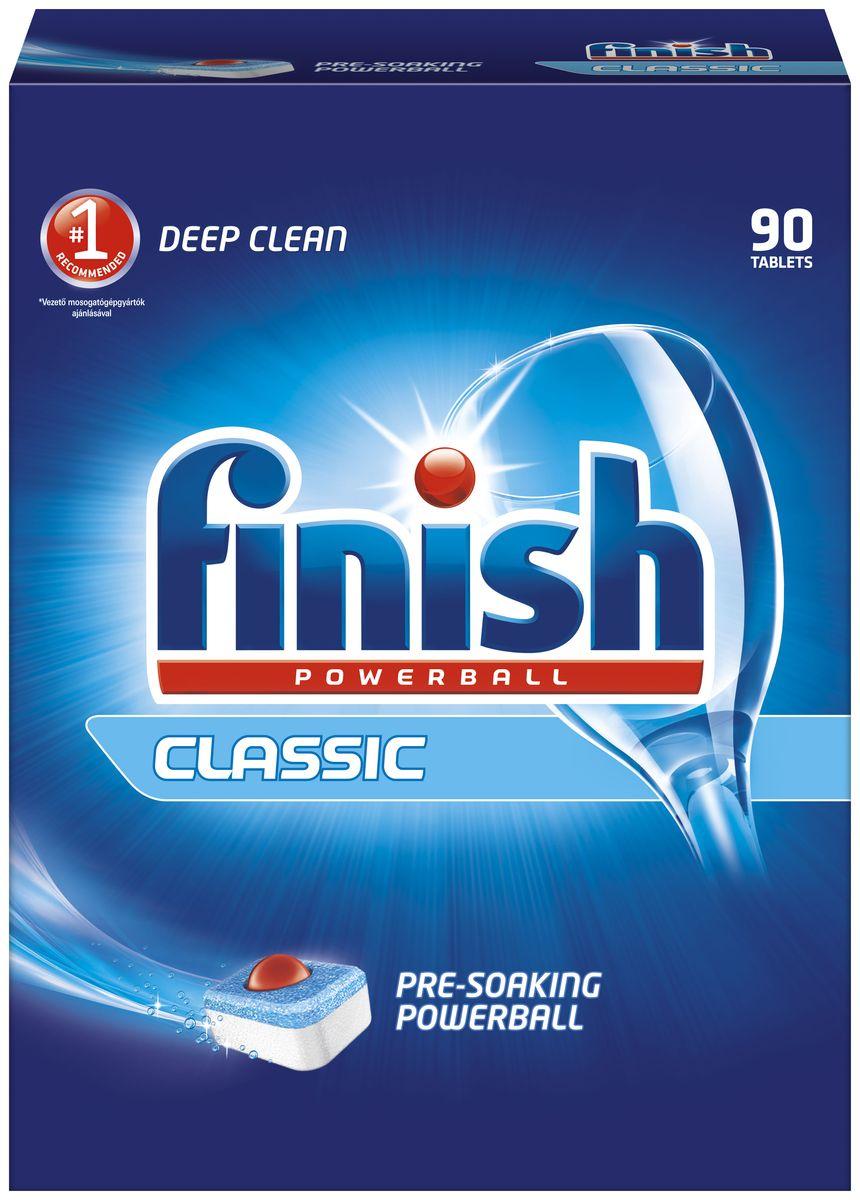 Finish Classic таблетки для ПММ, 90 таблеток164536Таблетки Finish Classic представляют собой моющий порошок, спрессованный в таблетки, то есть имеет те же свойства, что и порошок Finish Classic: компонент StainSoaker с эффектом замачивания проникает в засохшие загрязнения и позволяет удалять их без замачивания вручную. Рекомендуем дополнительно использовать Специальную Соль Finish для смягчения воды и ополаскиватель Finish для придания посуде блеска в комбинации с таблетками Finish Classic для достижения отличных результатов мытья посуды. Товар сертифицирован.