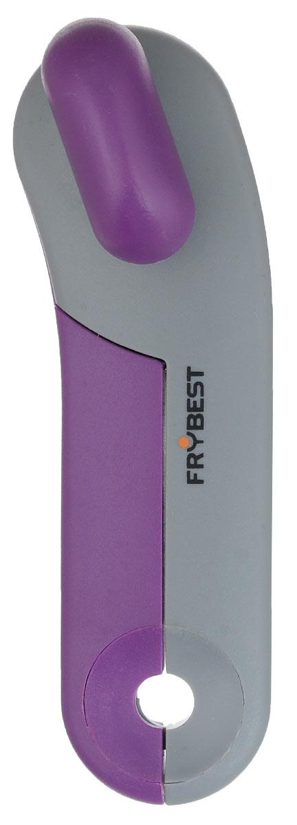 Открывалка для банок Frybest Rainbow, цвет: фиолетовый, серыйCO-003_фиолетовый, серыйОткрывалка Frybest Rainbow выполнена из высококачественной нержавеющей стали и пластика. Прибор легко и безопасно открывает все типы консервных банок, не оставляя заусенцев на краях. Порадуйте себя и своих близких качественным и функциональным подарком. Длина открывалки: 16,5 см.