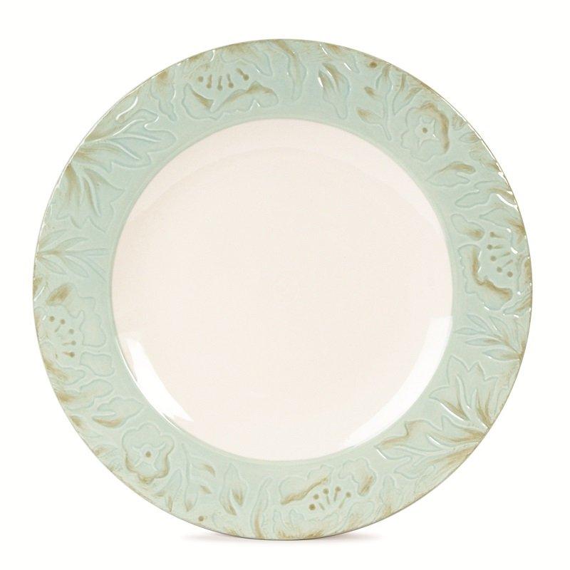 Тарелка Fitz and Floyd Тулуза, цвет: зеленый, диаметр 28 см20-496_зеленыйТарелка Fitz and Floyd Тулуза изготовлена из высококачественной керамики и декорирована изящным узором. Оригинальное изделие украсит сервировку вашего стола и подчеркнет прекрасный вкус хозяйки, а также станет отличным подарком. Можно мыть в посудомоечной машине и использовать в микроволновой печи. Диаметр тарелки: 28 см. Высота тарелки: 2 см.